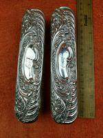 2 x Antique Sterling Silver Hallmarked Clothes Brush 1905 Williams (birmingham) Ltd (3 of 8)