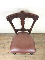Set of Four Victorian Mahogany Dining Chairs (6 of 7)