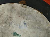 Rare Antique Royal Doulton Blue & White Mother & Girl Framed Oval Plaque C1910 (9 of 12)