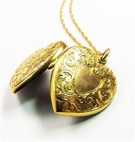 Antique Gold Hallmarked Locket 1906 with Necklace (10 of 11)
