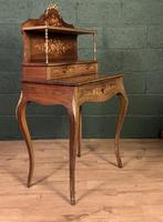 French Inlaid Rosewood Ladies Writing Table (3 of 8)