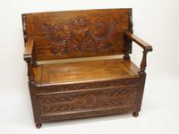 Early 20th Century  Oak Monks Bench (6 of 20)