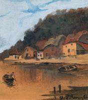 Wonderful Original 19th Century Antique Seascape Landscape Watercolour Painting (8 of 12)