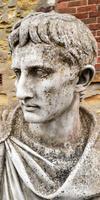 Large Composite Stone Statue On Column - Julius Cesar (4 of 11)
