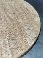 French Round Bleached Oak Farmhouse Dining Table (7 of 19)