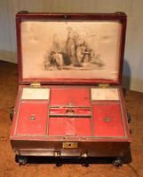 Fine Regency Leather Work Box (7 of 14)