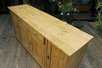 Big! Old 2m Pine Dresser Base / Sideboard / Cupboard / TV Stand - We Deliver! (6 of 13)