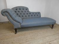 19th Century Upholstered Chaise Longue Sofa