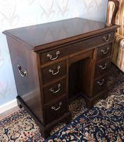 Victorian Mahogany Kneehole Campaign Desk (3 of 7)