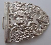 Victorian 1898 Hallmarked Solid Silver Nurses Belt Buckle W Davenport Maternity (4 of 7)
