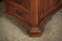 Large Mahogany Serpentine Shaped Partners Desk (7 of 20)