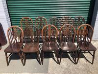 Harlequin Set 10 Ash & Elm Kitchen Chairs (6 of 10)