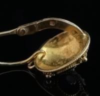 Vintage Russian enamel earrings, silver gilt (2 of 8)