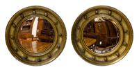 Pair of 19th Century Miniature Gilt Convex Mirrors (4 of 5)