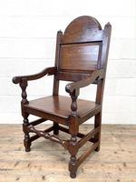 Pair of Antique Oak Throne Chairs (11 of 13)