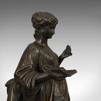 Antique Bronze Figure, French, Female, After Moreau c.1920 (9 of 12)