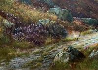 (1of2) Huge Exceptional 19thc Snowdonia Welsh Mountain Landscape Oil Painting (6 of 15)