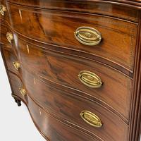 Georgian Serpentine Chest of Drawers with Satinwood Banding (3 of 12)