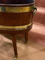 19th Century Brass Bound 'Coopered-Mahogany' Oval Wine Cooler (4 of 4)
