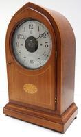 Fine Antique Bulle Electric Mantel Clock – Mahogany & Satinwood Case Mantle Clock (6 of 9)
