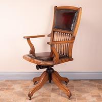 Teak Revolving Office Desk Chair (13 of 17)
