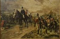 Antique Oil Painting - Wellington At Waterloo, The Dawn Of Day June 18th 1815 (After Robert Alexander Hillingford 1896) (7 of 8)