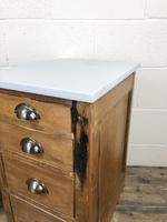 Pair of Pine Bedside Tables with Marble Tops (8 of 10)