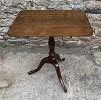 Georgian Oak Rectangular Tilt Top Occasional Table (3 of 16)