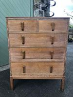 Antique Limed Oak Heals Chest of Drawers (8 of 10)