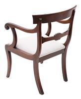 Set of 6 (4 +2) Regency Cuban Mahogany Dining Chairs 19th Century C1825 (5 of 15)
