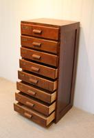Oak Chest Of Filing Drawers (3 of 5)