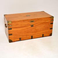 Antique Camphor Wood Military Campaign Trunk