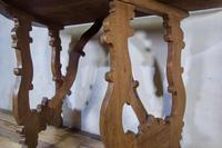 Charming 18th Century Italian Demi-Lune Lyre-Leg Fruitwood Table (4 of 13)