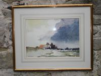 David Gapper Watercolour: Country Buildings Under Storm Clouds (2 of 2)