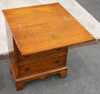 1940s Walnut Batchelors Chest Drawers with Table Top (3 of 6)