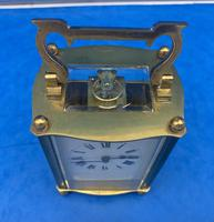 Early Gilt Brass 8 Day Carriage Clock (6 of 13)