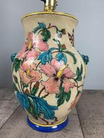 Victorian English Floral Vase Table Lamp, Rewired & Pat Tested (6 of 15)