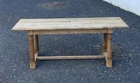 Rustic Bleached Oak Farmhouse Dining Table (3 of 25)