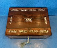 William IV Mother Pearl Inlaid Rosewood Box (6 of 12)