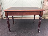 Antique Mahogany Two Draw Writing Table (8 of 11)