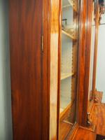 Victorian Mahogany Breakfront Cabinet Bookcase (19 of 19)