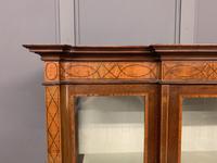 Edwardian Inlaid Mahogany & Satinwood Display Cabinet (3 of 12)