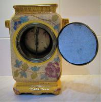 Delightful & Unusual 1900 French Pottery Mantle Timepiece (4 of 5)