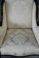 Pair of Edwardian Upholstered Armchairs (4 of 12)