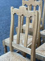 Set of 6 French Bleached Oak Farmhouse Dining Chairs (8 of 13)