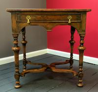Outstanding William & Mary Style Leather & Stud Bound Country Oak Lowboy Table (2 of 18)