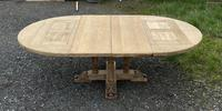 Large Round French Bleached Oak Farmhouse Table with Extensions (32 of 38)