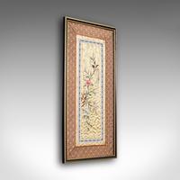 Antique Decorative Silk Panel 1900
