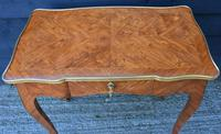 Exceptional Quality 19th Century French Kingwood Writing Table/ Lamp Table/ Centre Table. (12 of 15)