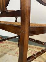 Antique Breton Side Table with Rush Seats (15 of 15)